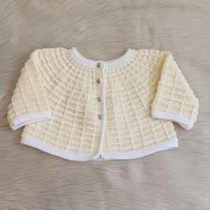 Vintage Crochet Baby Cardigan.